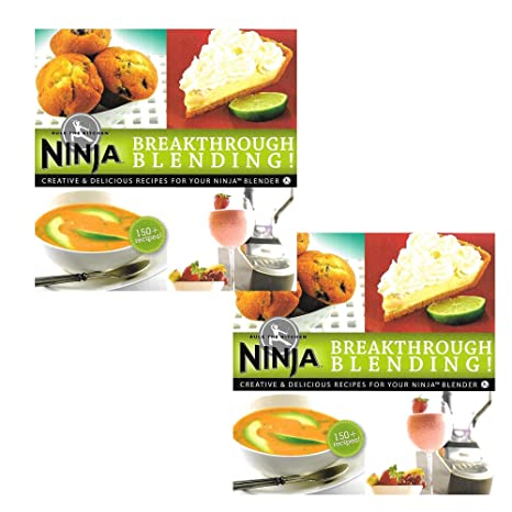 Ninja Blender Cookbook Breakthrough Blending 150 Recipe Cook Book (2 Pack)