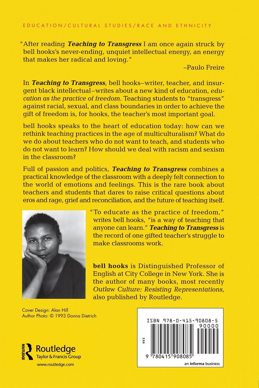 Bell hooks essays teaching to transgress education as the practice