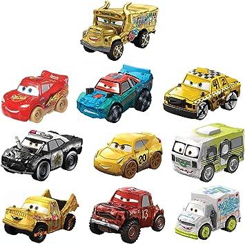 Disney Cars Mini Racers Derby Racers Pack de 10 coches de juguete ...