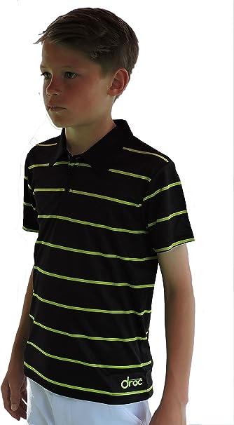 Droc Dimond Boys Professional Grey and Orange Polo Shirt