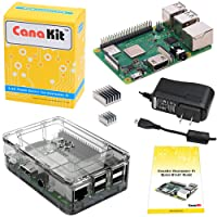 CanaKit Raspberry Pi 3 B+ (B Plus) with Premium Clear Case and 2.5A Power Supply (CA)