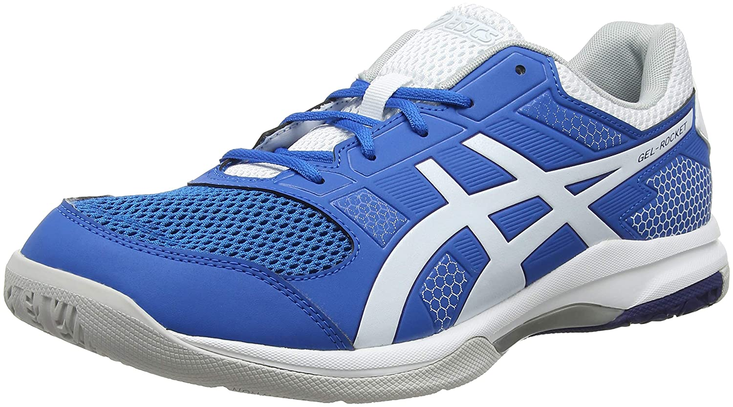 Asics Men's Gel-Rocket 8 Multisport Indoor Shoes, Blue (Racer Blue/White 401),9 UK/44 EU B706Y