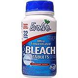 Evolve Bleach Tablets, HE Safe, No Splash, 32ct (Original Scent) Bleach, Hard Surface Cleaner, No Splash Bleach, Cleaner, Tab