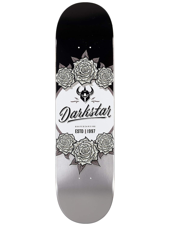Darkstar in Bloom Black//Silver 8.375 Skateboard Deck
