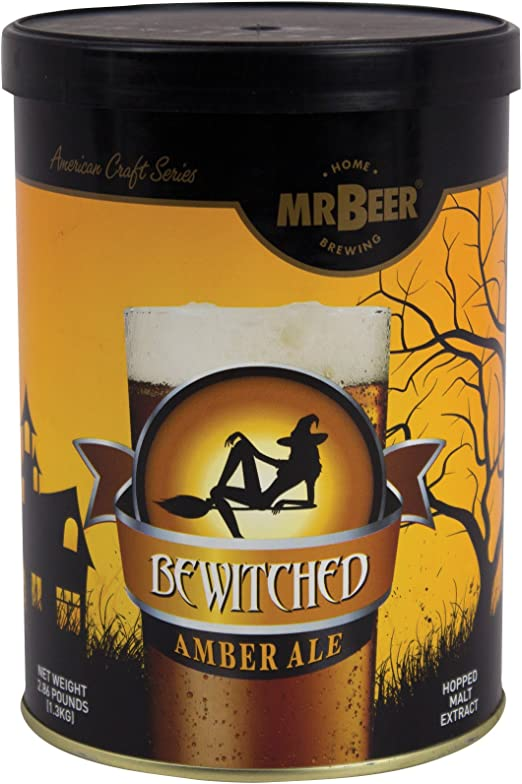 Mr Beer Bewitched Amber Ale 2 Gallon Homebrewing Craft Beer Refill Kit Amazon Ca Home Kitchen