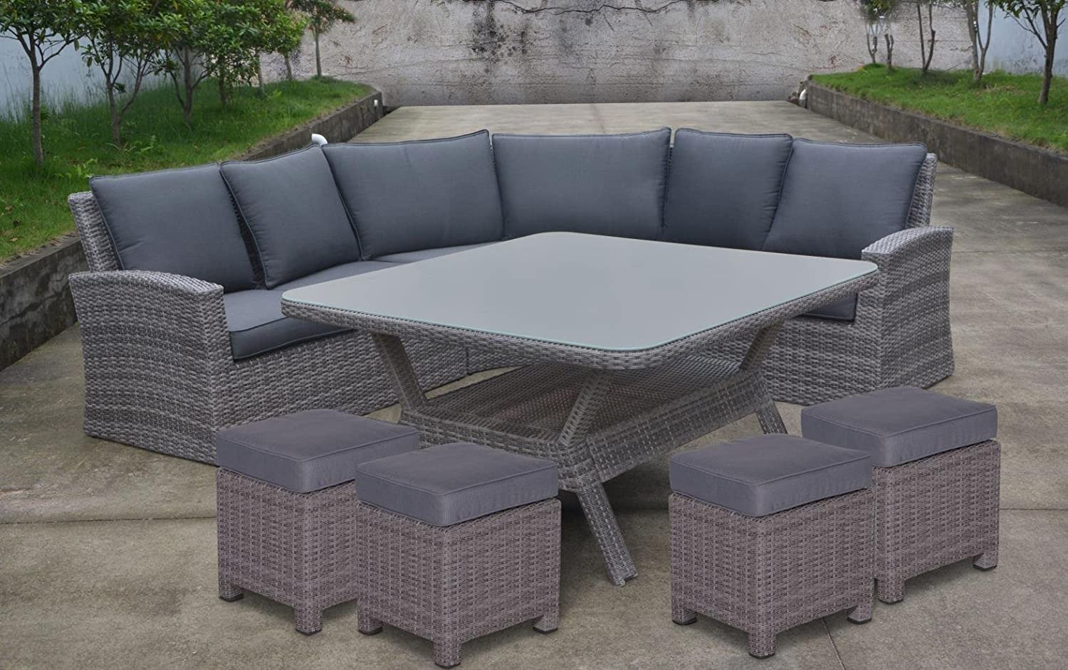 Polyrattan Lounge Gnstig Affordable Hohe Dining Poly