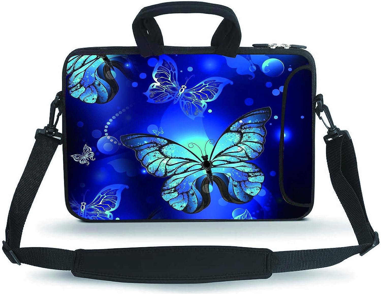 """Baocool 11-13.3"""" 14-15.6"""" Neoprene Sleeve Notebook Laptop Shoulder Messenger Briefcase Case Tote Bag"""