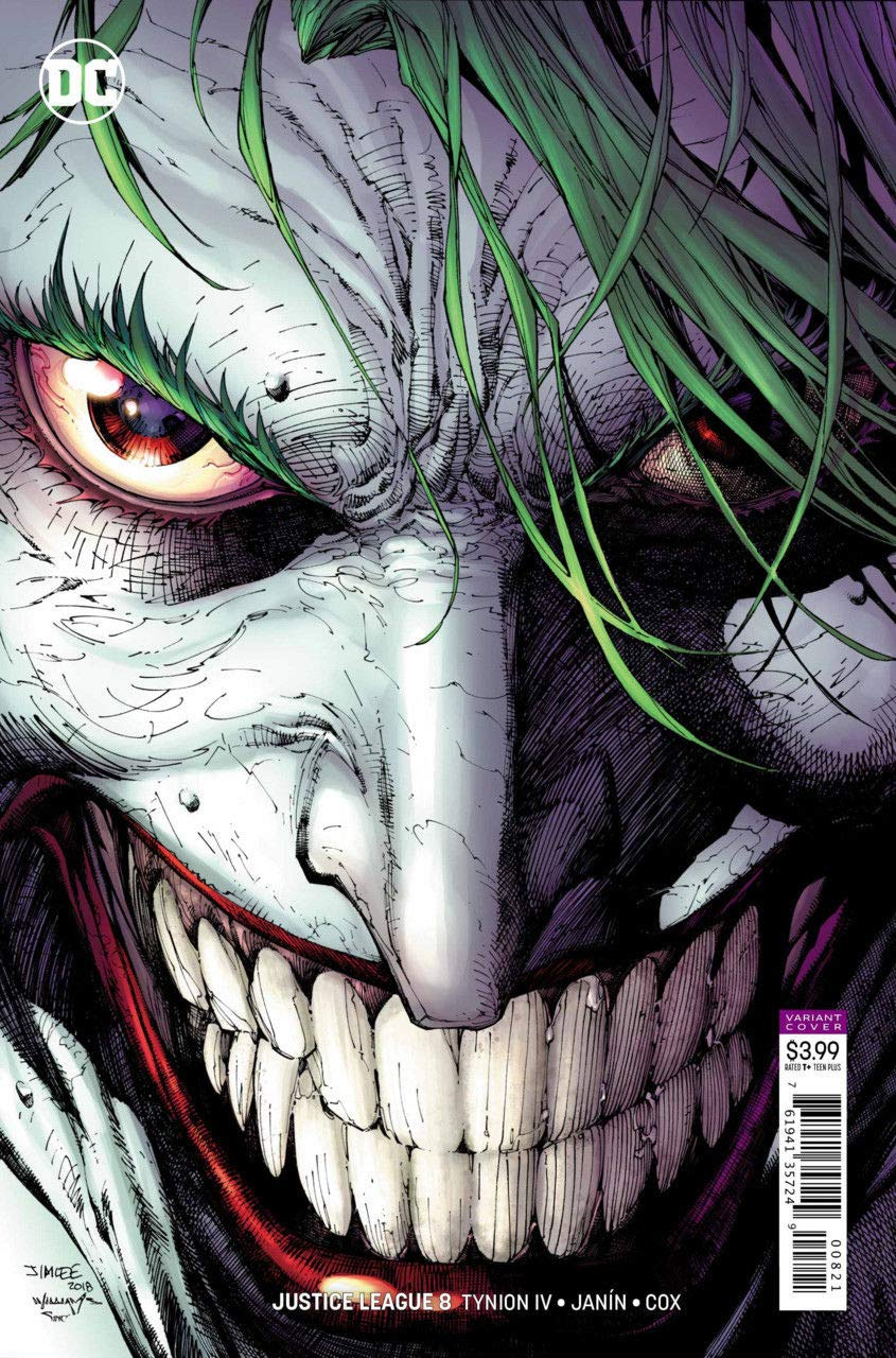 Justice League (2018) #8 VF/NM Jim Lee Joker Variant Cover