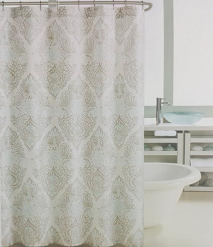 Amazon Tahari Fabric Shower Curtain Vintage Medallion Tan