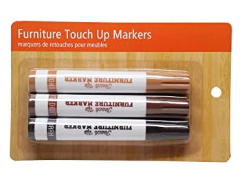 furniture touch up markers. value products permanent furniture touch-up markers with 3 different color finishes, 1- touch up