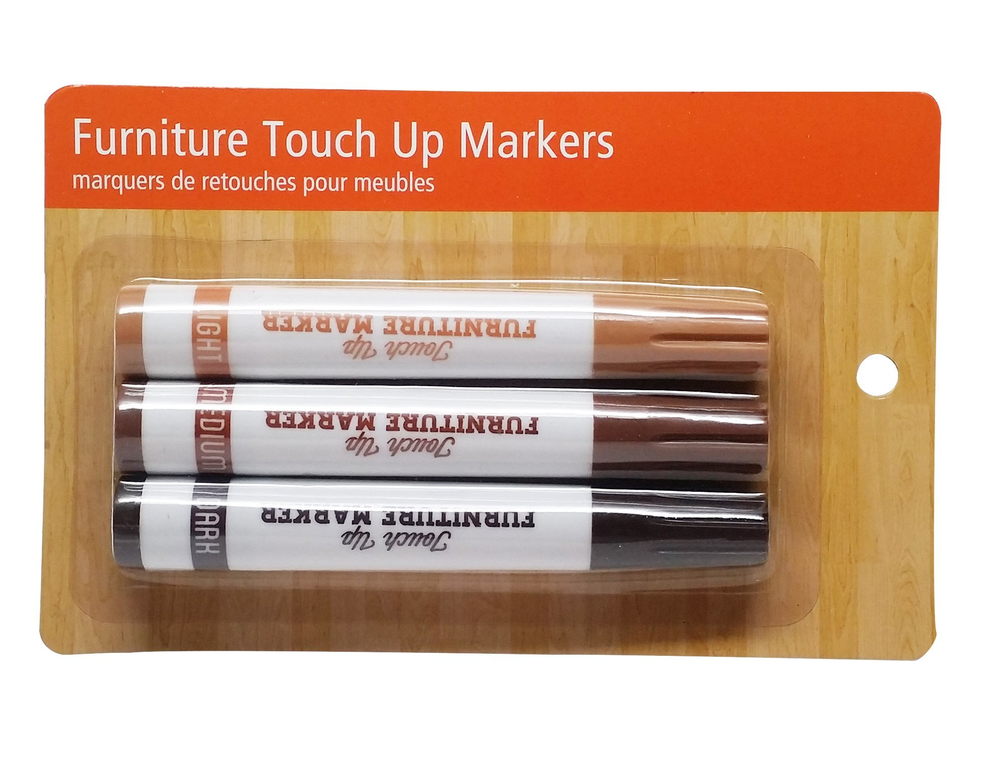 Furniture Touch up Markers, 3 Color Finishes by Good Living (Image #1)