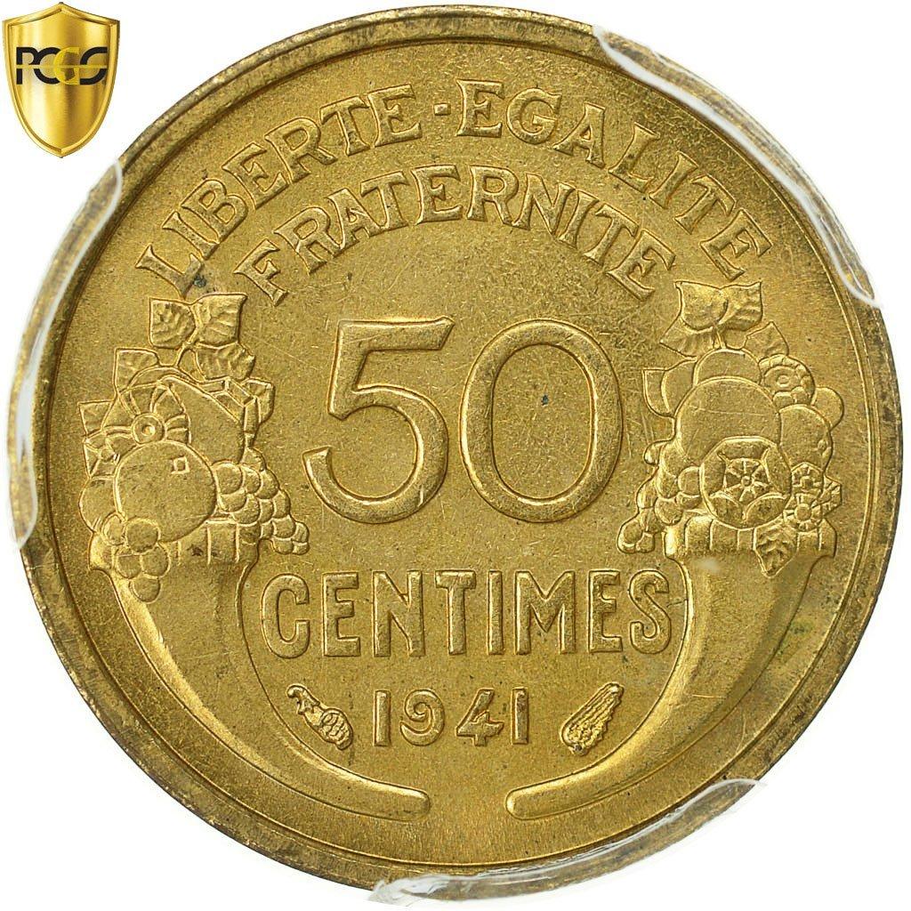 Laureate head France 1957 B Cornucopias 1 Franc Aluminum Coin