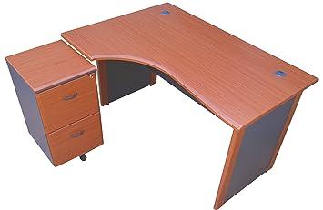 Bureau d angle de m pour gaucher avec tiroirs de rangement