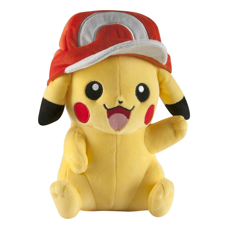 Pokémon, Peluche di Pikachu Tomy, di Alta qualità, per Giocare e da Collezionare T18747