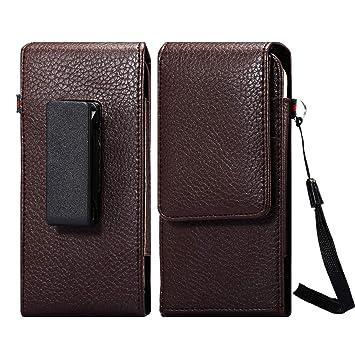 LORDWEY Funda 6.3inch Universal teléfono Móvil Cinturón Caso de la Bolsa, Vertical Cuero de la PU Caja de la Cartera de la Cintura para el Samsung ...