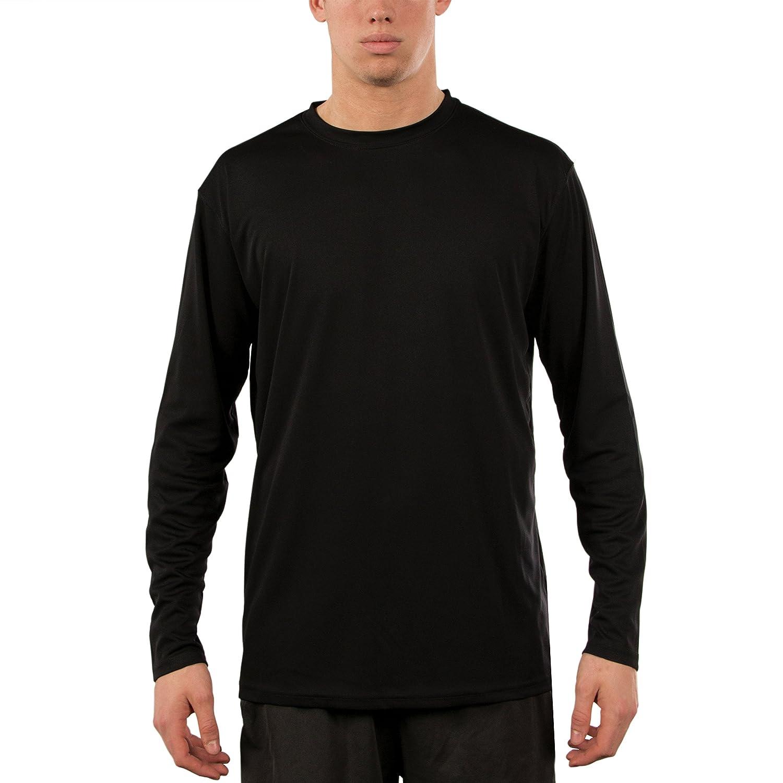 Vapor Apparel メンズ UPF 50+ UV /サンプロテクションロングスリーブTシャツ B00K0N15W4 L ブラック ブラック L