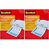 Scotch Thermal Laminating Pouches, 100-Pack, 8.9 x 11.4 inches, Letter Size Sheets (TP3854-100) Pack of 2