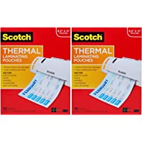 $44 » Scotch Thermal Laminating Pouches, 100-Pack, 8.9 x 11.4 inches, Letter Size Sheets (TP3854-100) Pack of 2
