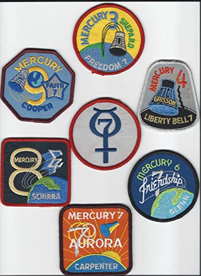 8cm Dia Official Patch Mercury 9 Mission Embroidered Patch