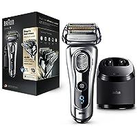 Braun Series 9 9290 cc - Afeitadora eléctrica para hombre de lámina, en húmedo y seco, máquina de afeitar barba con estación de limpieza Clean&Charge y funda para viaje exclusiva,plata