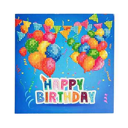 Craft Buddy Crystal Card Making Kit 5D Diamond Painting Greeting Cards A1 Happy Birthday Amazoncouk Kitchen Home
