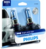 Philips 9005 CrystalVision Ultra Upgrade Headlight Bulb, 2 Pack,Packaging may vary