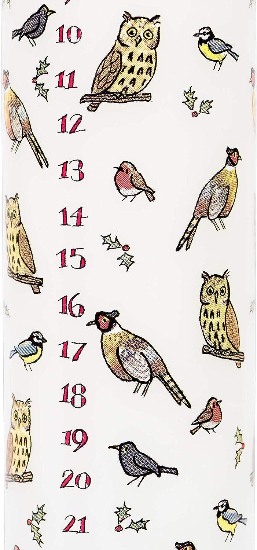 Alison Gardiner Advent Candle Winter Birds 4.5 cm x 25.5 cm Pillar Candle