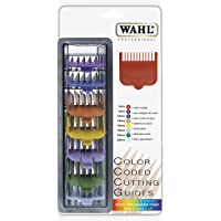 """Wahl Professional 8 Color Coded Cutting Guides with Organizer #3170-400 – Great for Professional Stylists and Barbers – Cutting Lengths from 1/8"""" to 1"""""""