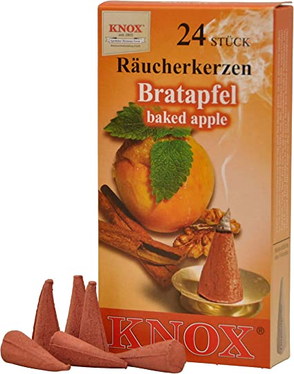 Sigro Knox Burners Baked Apple Incense Cones Red One Size Amazon Co Uk Kitchen Home