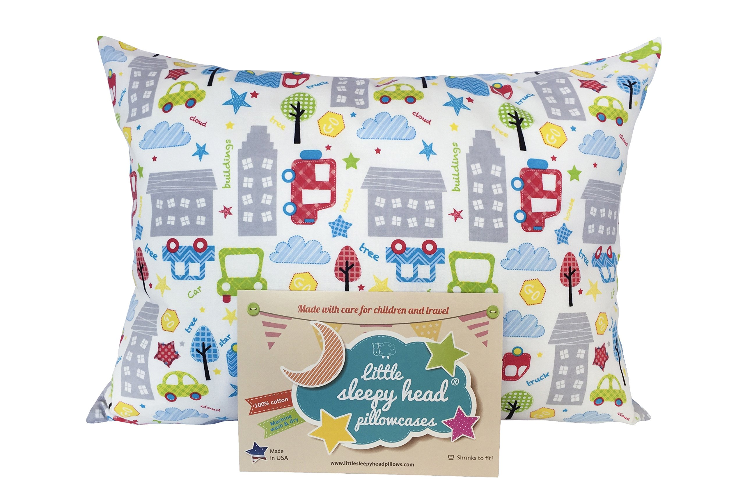 Little Sleepy Head Toddler Pillowcase - Cars, 13 x 18