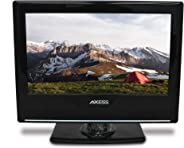 AXESS TVD1801-13 13.3-Inch LED HDTV, Features 12V Car Cord Technology, VGA/HDMI/SD/USB Inputs, Built-In DVD Player, Full Fun