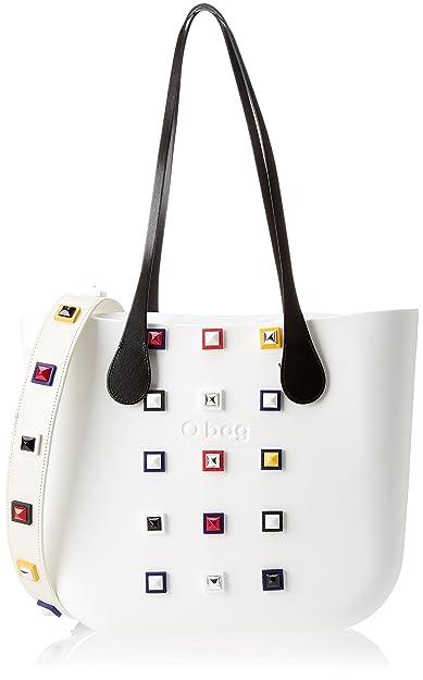 O bag B001_008, sac à main femmeMulticoloreMulticolore (Bianco), 14x31x39 cm (W x H x L) EU