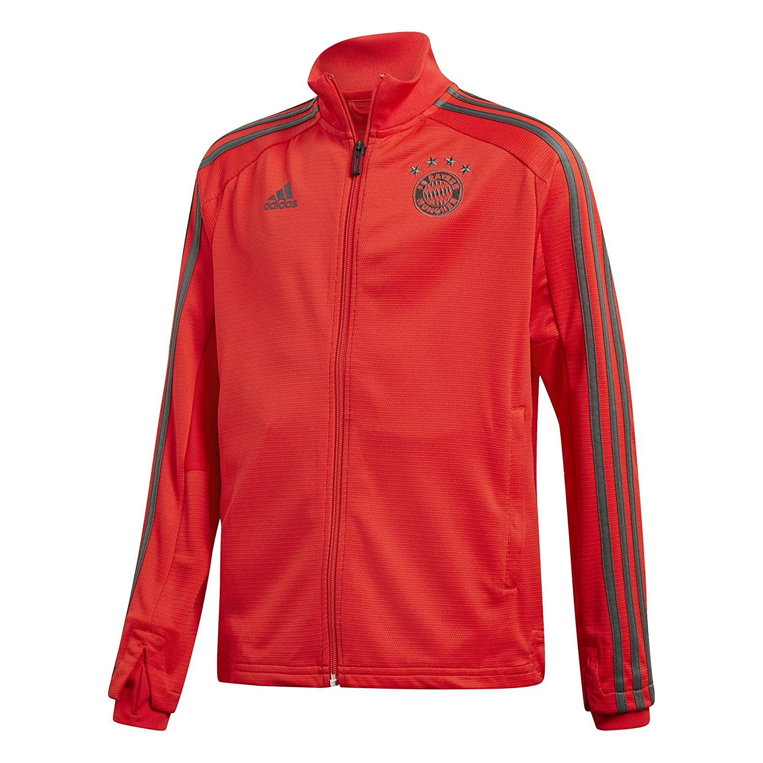 adidas 2018 2019 Bayern Munich Training Track Jacket (Red) Kids
