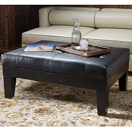 Peachy Amazon Com Leather Storage Ottoman In Red Wood Legs And Ocoug Best Dining Table And Chair Ideas Images Ocougorg