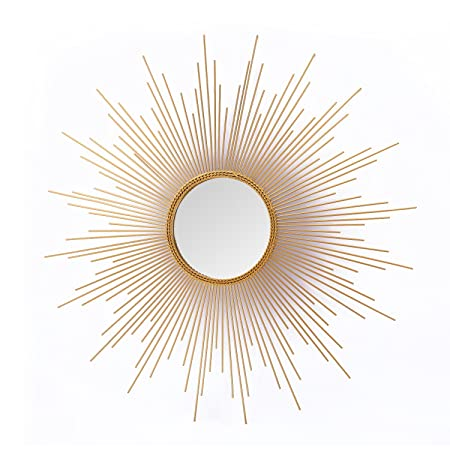 Asense Home Collection Sunburst Mirror, Classic Metal Decorative Wall Mirror Sunburst