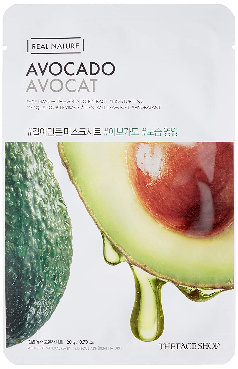 THE FACE SHOP Real Nature Mask Sheet Avocado