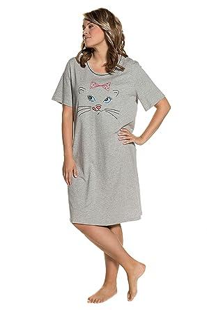 newest collection 8db86 b9cad Ulla Popken Damen große Größen bis 68, Nachthemd, Bigshirts im 2er Pack aus  Baumwolle &Viskose mit Halbarm & Rundhals 711880