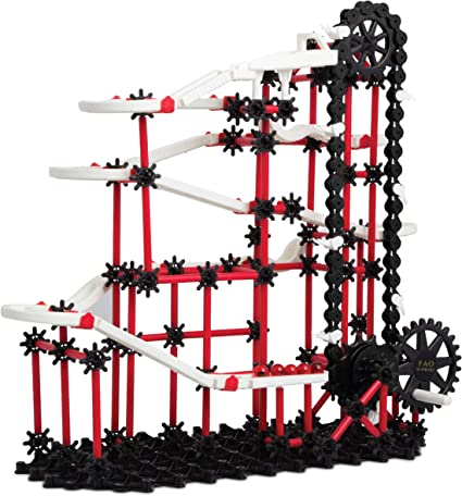 Amazon Com Fao Schwarz 321 Piece Marble Run Construction And Building Kit For Kids Toys Games