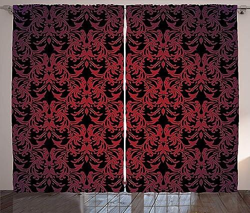 Ambesonne Victorian Curtain