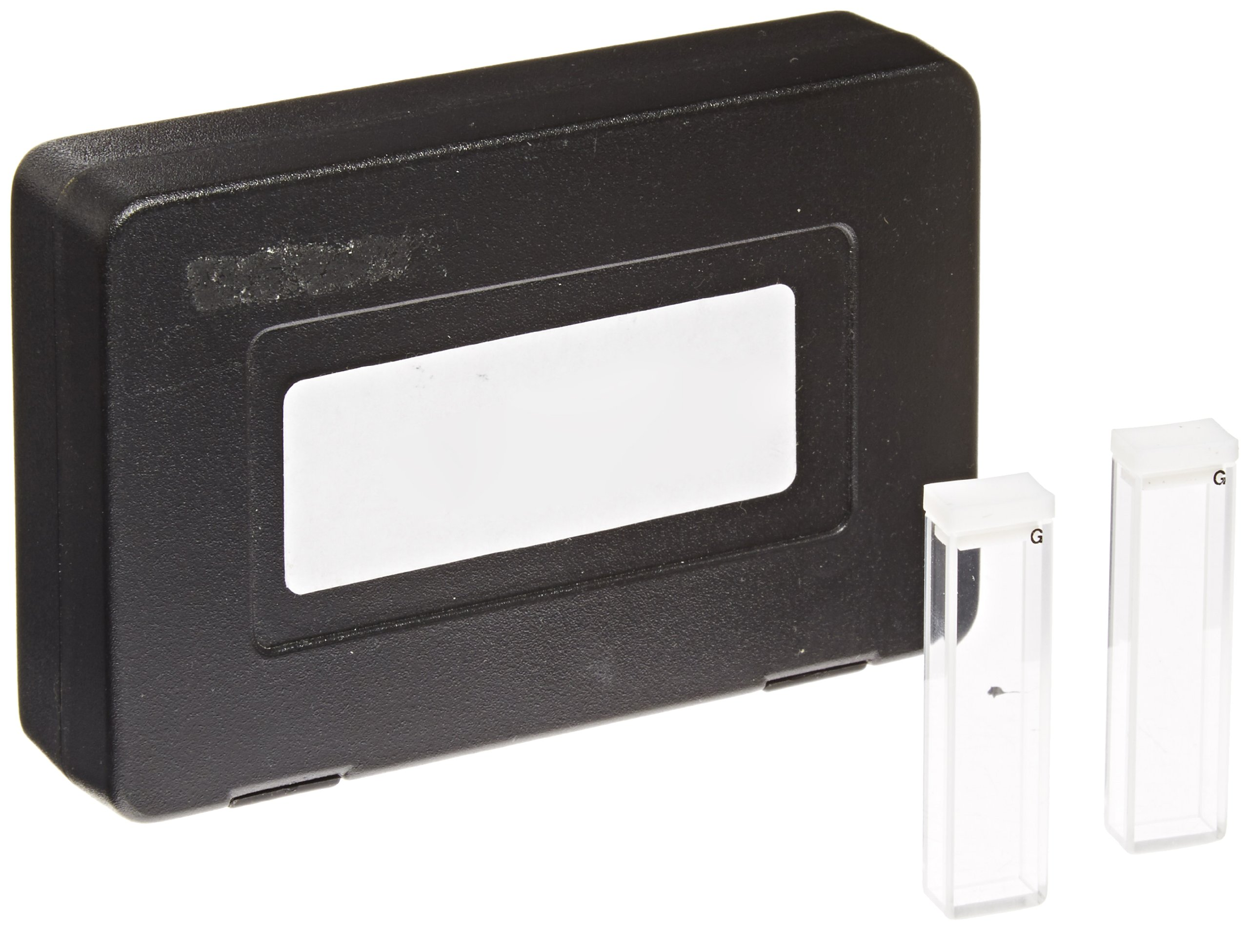 Varsal Type 3-G-5 Optical Glass Fluorometer Rectangular Spectrophotometer Cell with Lid, 5mm Pathlength, 1.7ml Capacity, 360nm to 2500nm Range (Case of 2)