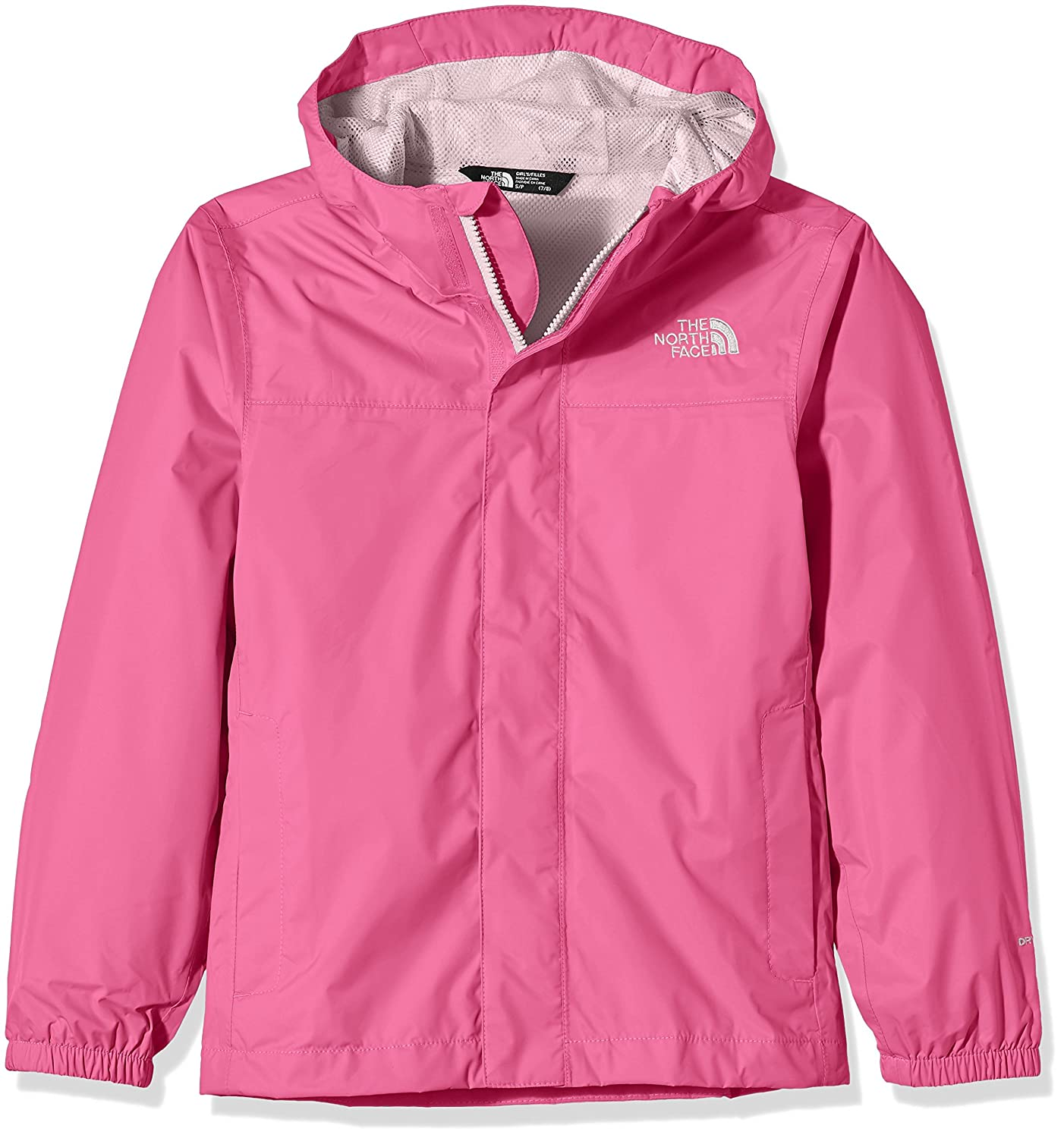 THE NORTH FACE Zipline Rain - Chaqueta Impermeable para niña, Color Rosa, Talla XL NF00AQUZRW2