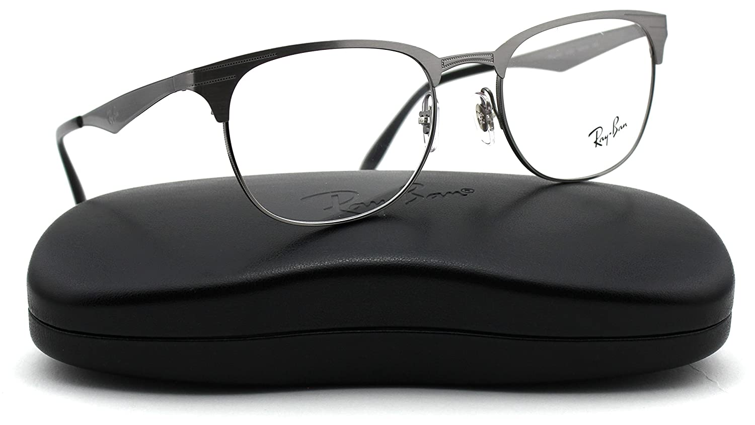 e04db222925 Ray-Ban RX6346 2553 Unisex Eyeglasses Metal Brushed Gunmetal Frame 50mm   Amazon.co.uk  Clothing