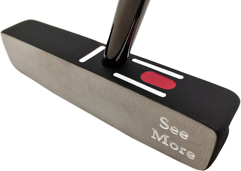 Seemore FGPオリジナルゴルフパター35インチ、スチール、2.5度Uniflex、、左、