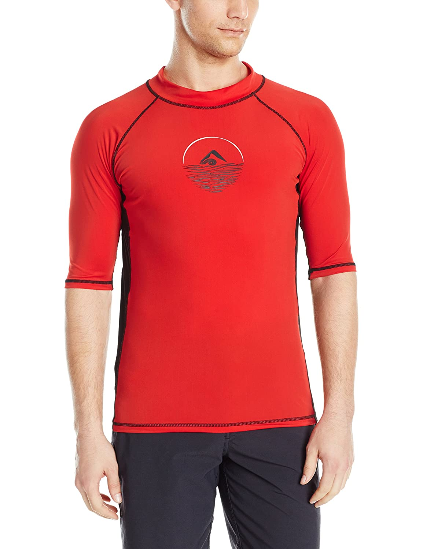 Kanu Surf Men's Viper UPF 50+ Sun Protective Rashguard Swim Shirt Kanu Surf Men' s Swimwear 4478