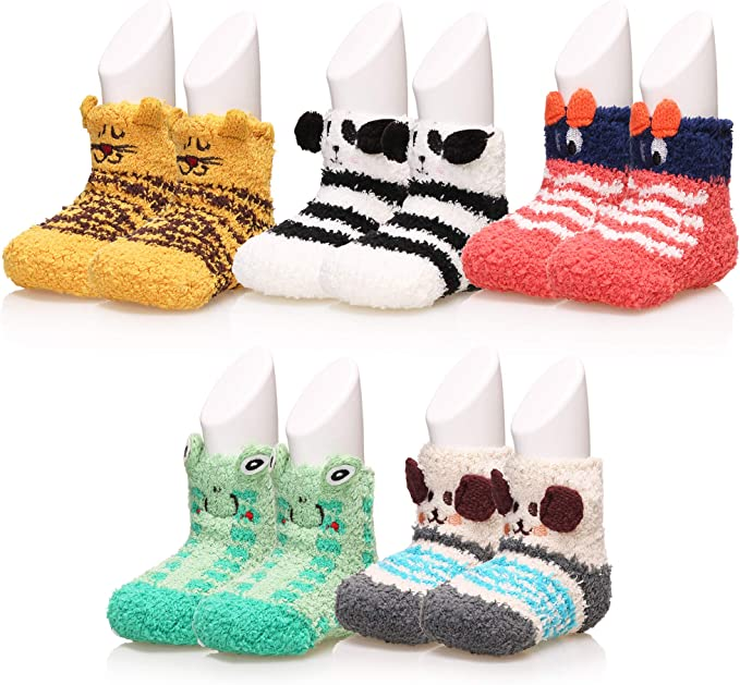 Lace Kids Toddler Baby Soft Warm Anti-slip Shoes Boots Slipper Socks