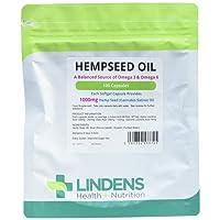 Lindens Hempseed Oil 1000mg Capsules | 100 Pack | UK Manufacturer