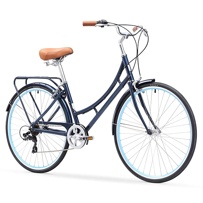 sixthreezero Ride in the Park Women's 7-Speed City Road Bicycle, Blue