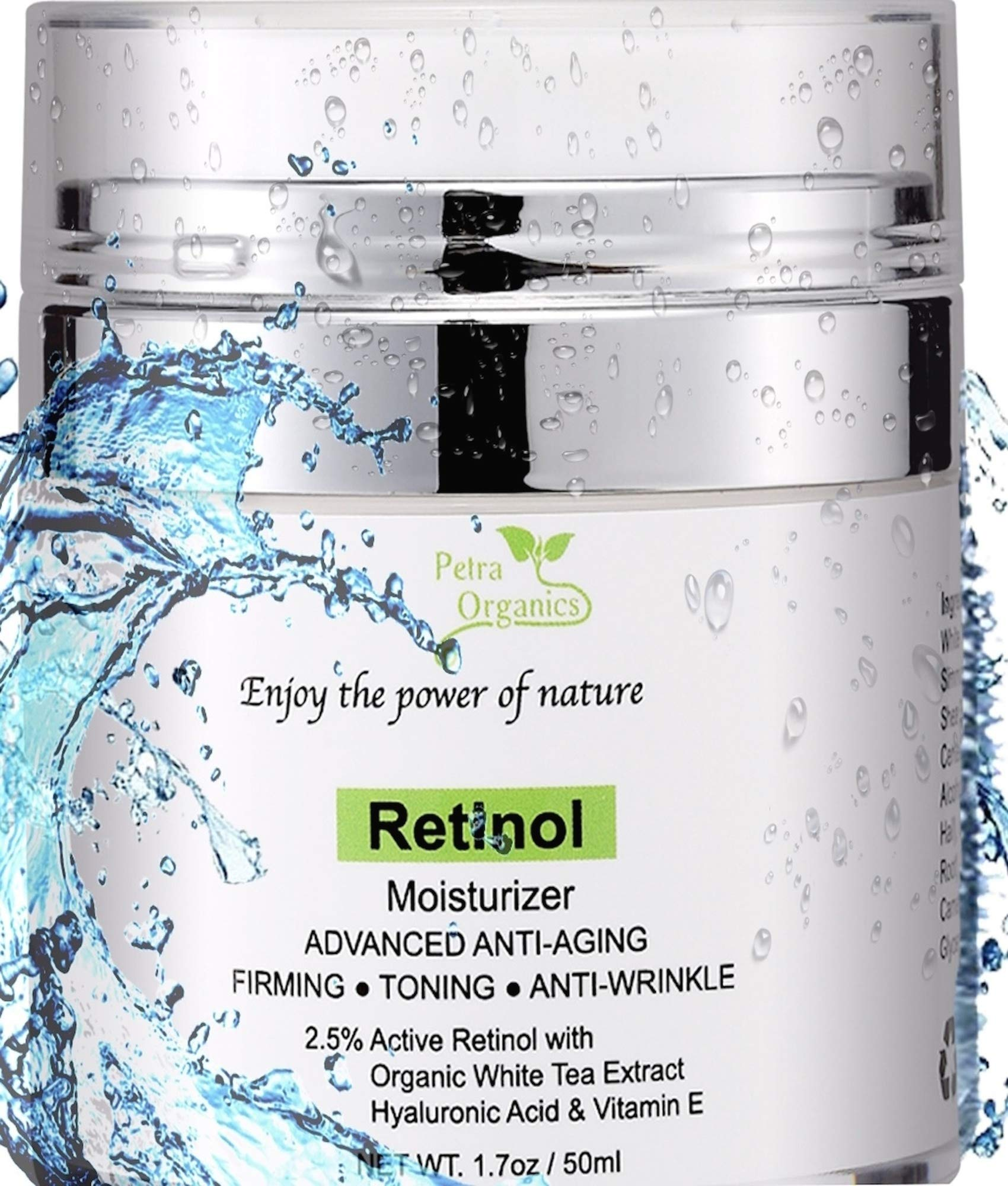 Retinol Cream for Face and Eye Are - with Retinol, Hyaluronic Acid, Shea Butter & Vitamin E - Anti Aging Face Cream - Night Cream Anti Aging - Retinol Moisturizer -1.7oz / 50m