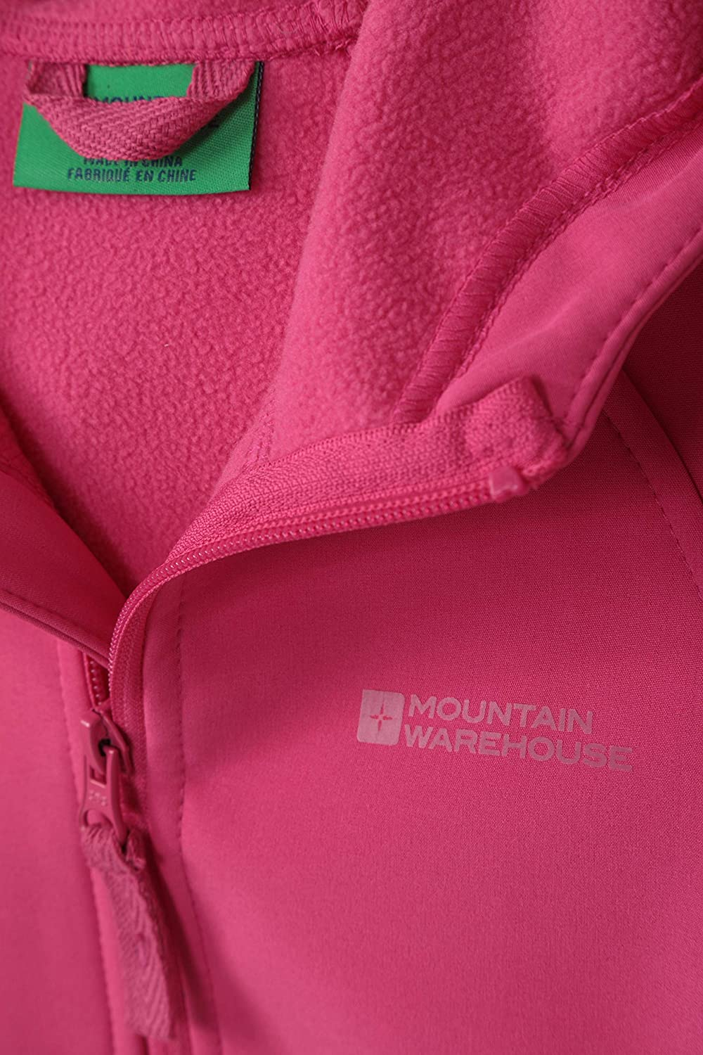 Mountain Warehouse Kids Softshell Jacket Water Resistant Shell