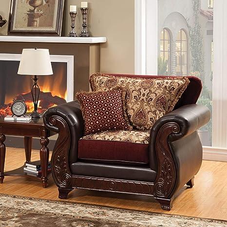 Amazon.com: Muebles de América Franchesca silla de estilo ...
